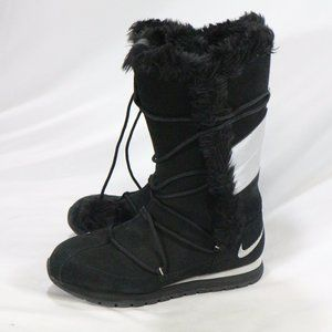 NIKE Winter High Suede Black/Silver Boots
